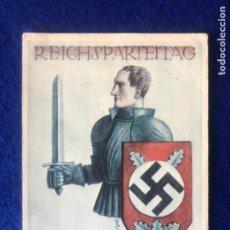Postales: POSTAL ORIGINAL ALEMANA REICHSPARTEITAG NUREMBERG 1934. Lote 212536721