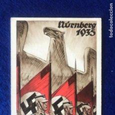 Postales: POSTAL ORIGINAL ALEMANA REICHSPARTEITAG NUREMBERG 1935. Lote 212536986