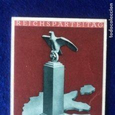 Postales: POSTAL ORIGINAL ALEMANA REICHSPARTEITAG NUREMBERG 1935. Lote 212537093