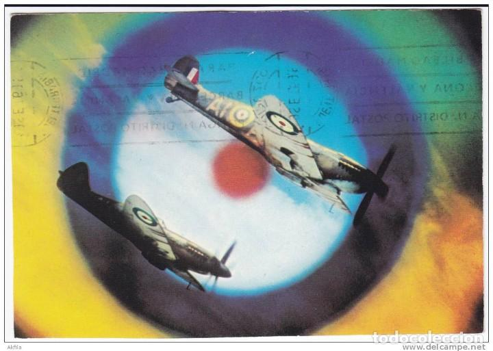 POSTAL 1969 BATTLE OF BRITAIN. SPITFIRE. (Postales - Postales Temáticas - II Guerra Mundial y División Azul)