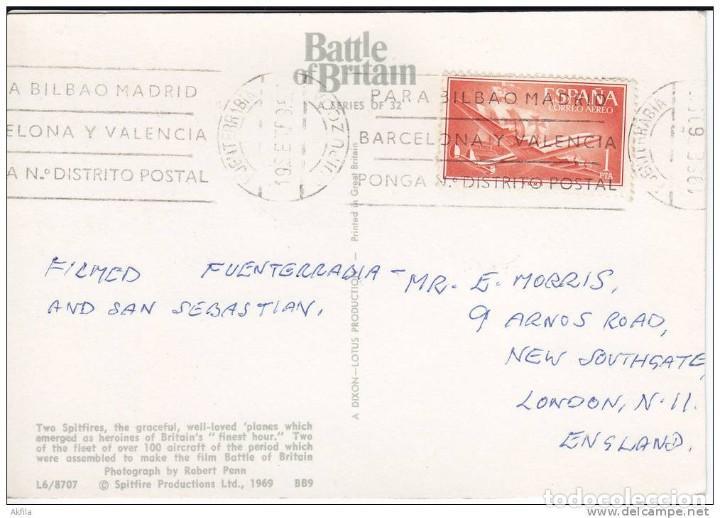 Postales: Postal 1969 Battle of Britain. Spitfire. - Foto 2 - 213375163