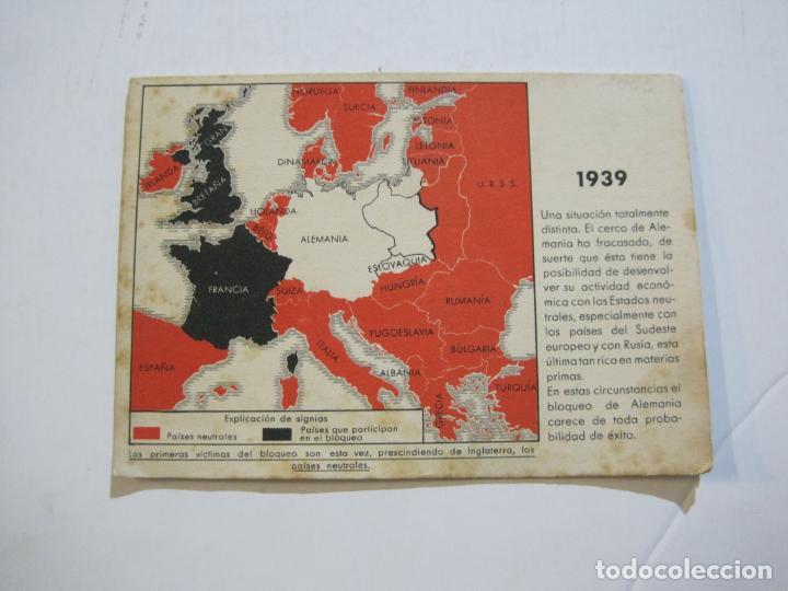 Postales: II GUERRA MUNDIAL-POSTAL DOBLE-MAPAS-VER FOTOS-(73.749) - Foto 2 - 216490266