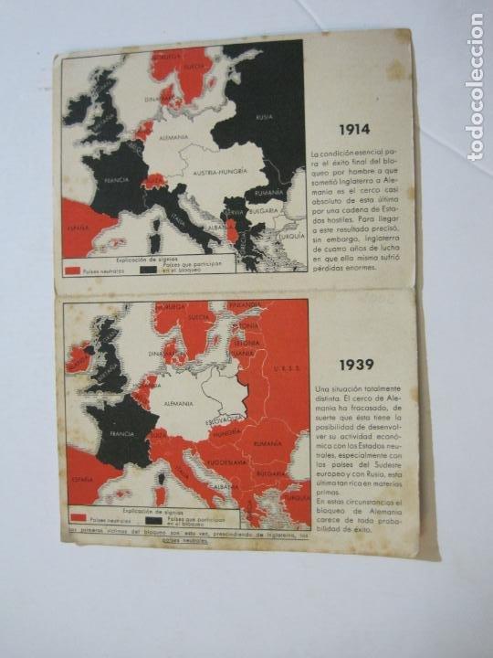 II GUERRA MUNDIAL-POSTAL DOBLE-MAPAS-VER FOTOS-(73.749) (Postales - Postales Temáticas - II Guerra Mundial y División Azul)