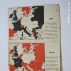 Postales: II GUERRA MUNDIAL-POSTAL DOBLE-MAPAS-VER FOTOS-(73.749). Lote 216490266
