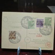 Postales: POSTAL CRUZ ROJA ALEMANA 1948 HESSEN. Lote 220696277
