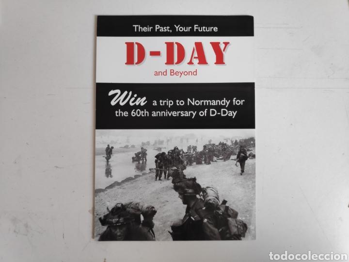 Postales: Folleto Dia-D. Desembarco de Normandia + 3 postales Dia-D, Segunda Guerra Mundial - Foto 2 - 221271133