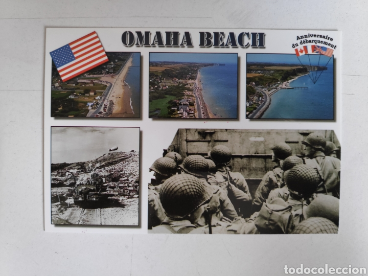Postales: Folleto Dia-D. Desembarco de Normandia + 3 postales Dia-D, Segunda Guerra Mundial - Foto 4 - 221271133