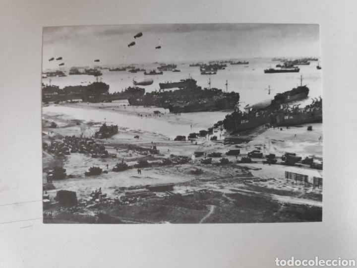 Postales: Folleto Dia-D. Desembarco de Normandia + 3 postales Dia-D, Segunda Guerra Mundial - Foto 5 - 221271133