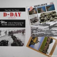 Postales: FOLLETO DIA-D. DESEMBARCO DE NORMANDIA + 3 POSTALES DIA-D, SEGUNDA GUERRA MUNDIAL. Lote 221271133
