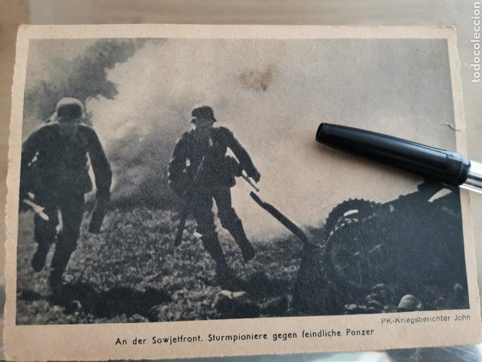 CN POSTAL ALEMANA SEGUNDA GUERRA MUNDIAL. PANZER AN DER SOWJETFRONT. PK KRIEGSBERICHTER JOHN (Postales - Postales Temáticas - II Guerra Mundial y División Azul)