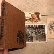 Cartes Postales: LIBRO UP FRONT Y LOTE DE POSTALES Y FOTO ORIGINAL MILITAR WW2 US ARMY USA. Lote 223388030