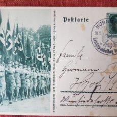 Postais: POSTAL NAZI HITLER CIRCULADA 1937. Lote 224898150