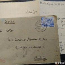 Postales: CARTA ESCRITA POR UN INTEGRANTE JUVENTUD NACIONALISTA CON UN FUTURO VOLUNTARIO DE LA DIVISIÓN AZUL.. Lote 225499450