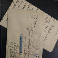 Postales: CARTA DE UN VOLUNTARIO DE LA DIVISIÓN AZUL. FELD POST. 1942 CENSURA GUBERNATIVA. Lote 225500540