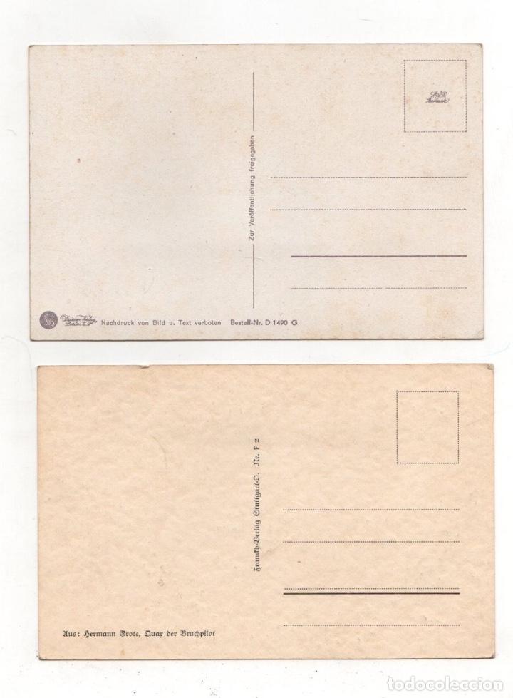 Postales: LOTE DE 2 TARJETAS POSTALES COMICAS II GUERRA MUNDIAL - Foto 2 - 233505540