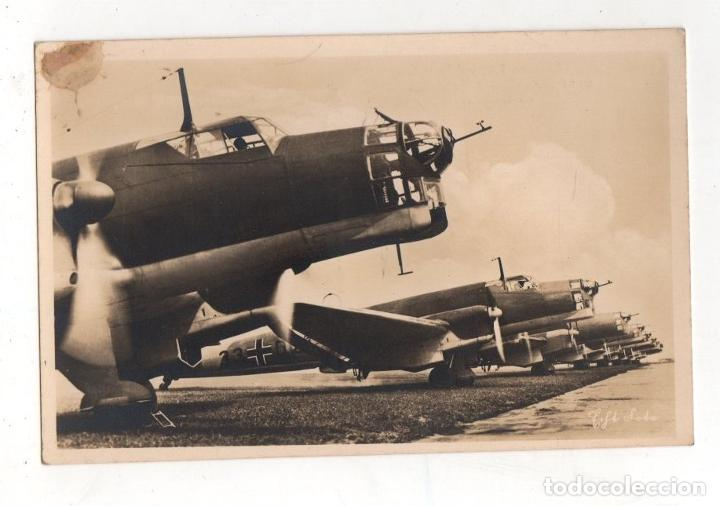 TARJETA POSTAL AVION LUFTWAFFE. II GUERRA MUNDIAL. HORN'S ECHTE FOTOKARTE (Postales - Postales Temáticas - II Guerra Mundial y División Azul)