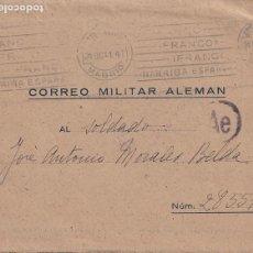 Postales: CORREO MILITAR ALEMÁN. FELD POST DIVISIÓN AZUL CONSERVA LA CARTA. CENSURADO. Lote 235679890