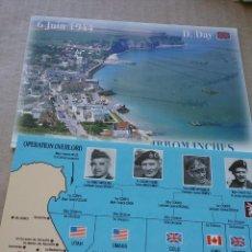 Postales: 2 POSTALES DESEMBARCO DE NORMANDIA (42-4). Lote 240642430