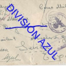 Postales: 1941 DIVISION AZUL ALCALÁ DE GUADAIRA TENIENTE REGTO 269 SOBRE CARTA C56. Lote 241046165