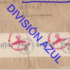 Postales: 1942 DIVISION AZUL ALCALÁ DE GUADAIRA TENIENTE REGTO 269 SOBRE CARTA C56. Lote 241046230