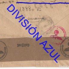 Postales: 1942 DIVISION AZUL ALCALÁ DE GUADAIRA TENIENTE REGTO 269 SOBRE CARTA C56. Lote 241046825