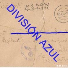 Postales: 1942 DIVISION AZUL ALCALÁ DE GUADAIRA TENIENTE REGTO 269 SOBRE CARTA C56. Lote 241046915