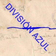 Postales: 1942 DIVISION AZUL ALCALÁ DE GUADAIRA TENIENTE REGTO 269 SOBRE CARTA C56. Lote 241047940