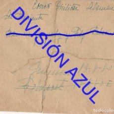Postales: 1942 DIVISION AZUL ALCALÁ DE GUADAIRA TENIENTE REGTO 269 SOBRE CARTA C56. Lote 241048260