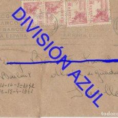 Postales: 1942 DIVISION AZUL ALCALÁ DE GUADAIRA TENIENTE REGTO 269 SOBRE CARTA C56. Lote 241048455