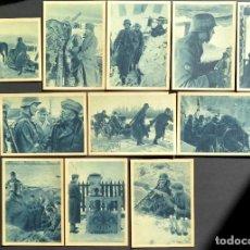 Postales: ESTUCHE CON 12 POSTALES DE LA DIVISIÓN AZUL. VOLUNTARIOS ESPAÑOLES EN EL INVIERNO RUSO.. Lote 241430700