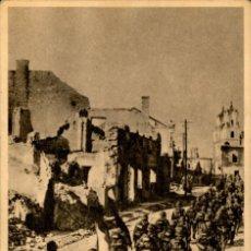Postales: ORIGINAL - DIVISION AZUL - MARCHA A TRAVES DE UNA CIUDAD CONQUISTADA. Lote 242366525