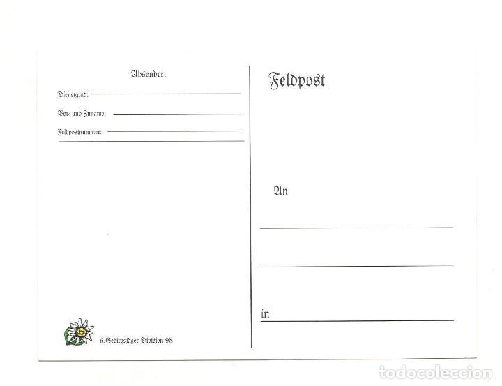Postales: GEBIRSJAGER DIVISIÓN 98 POSTAL REPRODUCCIÓN - Foto 2 - 244659760