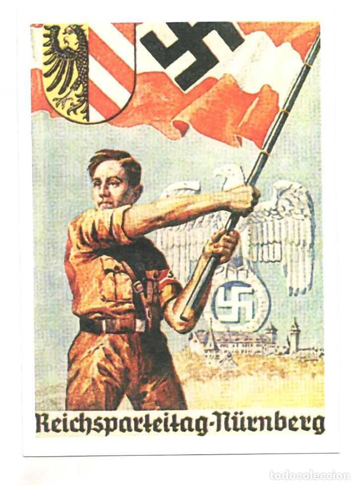 HITLERJUGEND REICHSPARTEITAG NURNBERG POSTAL REPRODUCCIÓN (Postales - Postales Temáticas - II Guerra Mundial y División Azul)