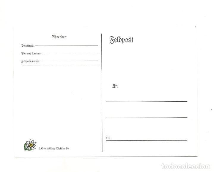 Postales: GEBIRSJAGER DIVISIÓN 98 POSTAL REPRODUCCIÓN - Foto 2 - 244660665