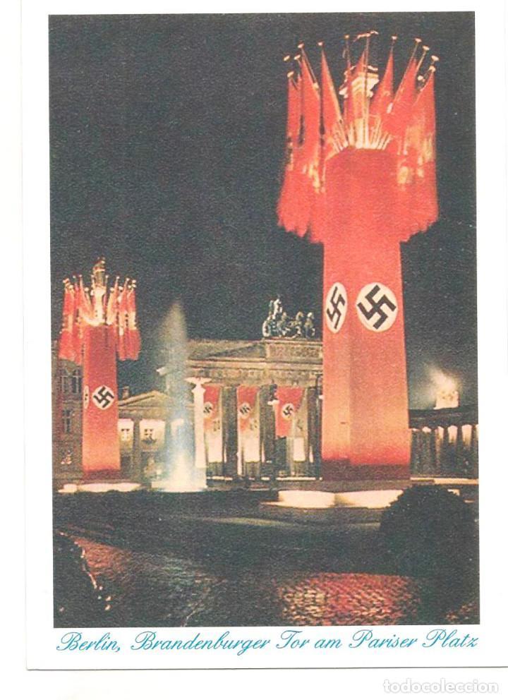 BERLIN BRANDEBURGER FOR AM PARISER PLATZ POSTAL REPRODUCCIÓN (Postales - Postales Temáticas - II Guerra Mundial y División Azul)