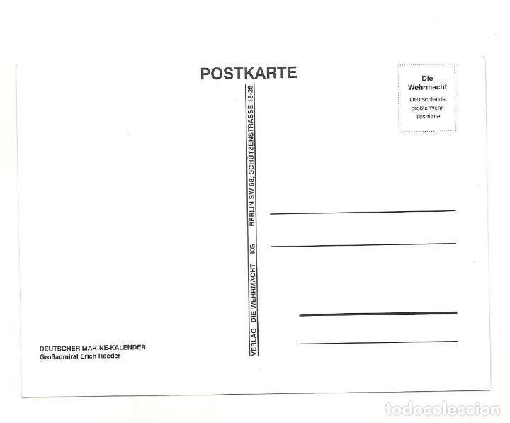 Postales: ERICH RAEDER POSTAL REPRODUCCIÓN - Foto 2 - 244661295