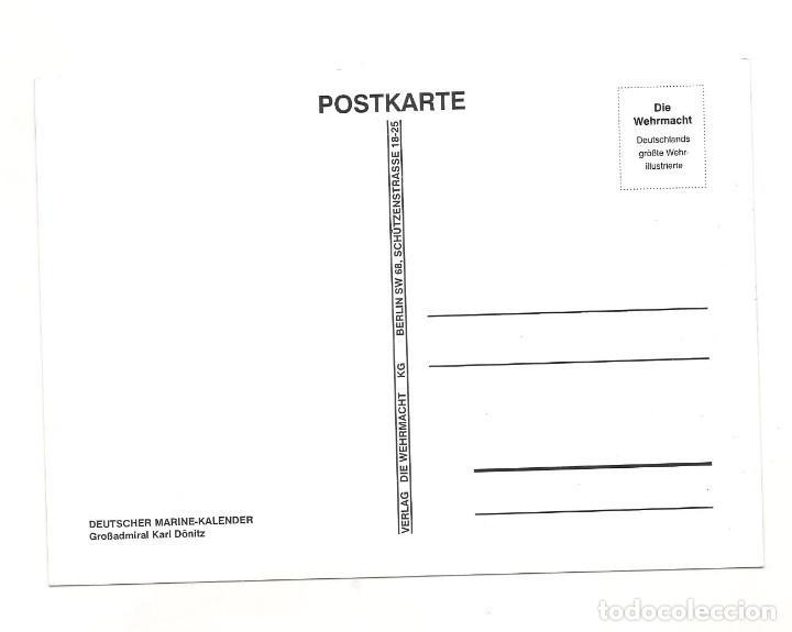 Postales: KARL DÖNITZ POSTAL REPRODUCCIÓN - Foto 2 - 244661705