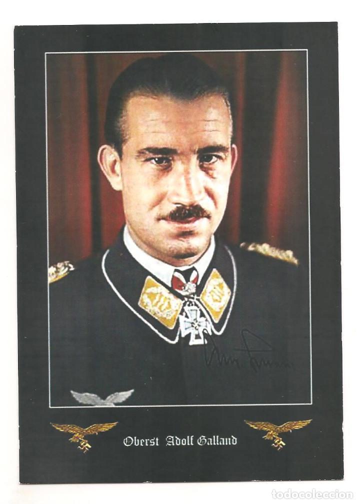 ADOLF GALLAND POSTAL REPRODUCCIÓN (Postales - Postales Temáticas - II Guerra Mundial y División Azul)