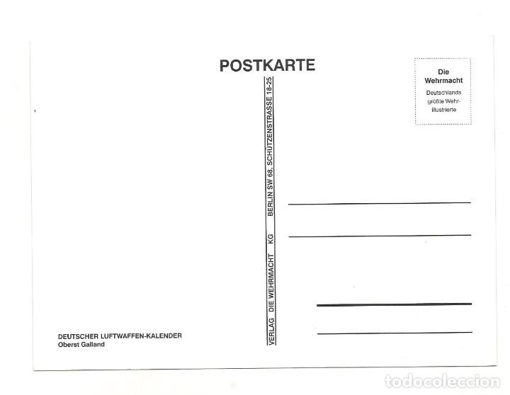 Postales: ADOLF GALLAND POSTAL REPRODUCCIÓN - Foto 2 - 244662015