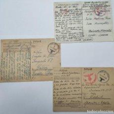 Postales: 3X TARJETA POSTAL DIVISIÓN AZUL, FELDPOST, CIRCULADAS. Lote 244889790