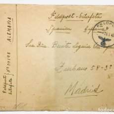 Postales: CARTA (FELDPOST) ENVIADA POR UN SOLDADO DE LA DIVISION AZUL (1941) - II GUERRA MUNDIAL. Lote 246129995
