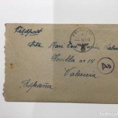 Postales: CARTA (FELDPOST) ENVIADA POR UN SOLDADO DE LA DIVISION AZUL (1943) A VALENCIA - CONTIENE EL TEXTO. Lote 246130580