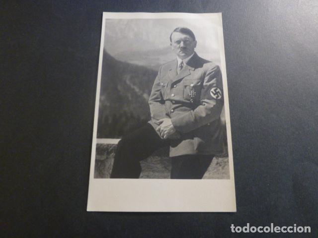 ADOLF HITLER CON CRUZ DE HIERRO POSTAL FOTOGRAFICA PALOMEQUE MADRID AÑOS 40 (Postales - Postales Temáticas - II Guerra Mundial y División Azul)