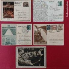 Postales: POSTALES NAZIS SEGUNDA GUERRA MUNDIAL ERFTER SPATENFTICH FEFTPOFTKARTE ZUM REITCHSPARTEITAG. Lote 248820255
