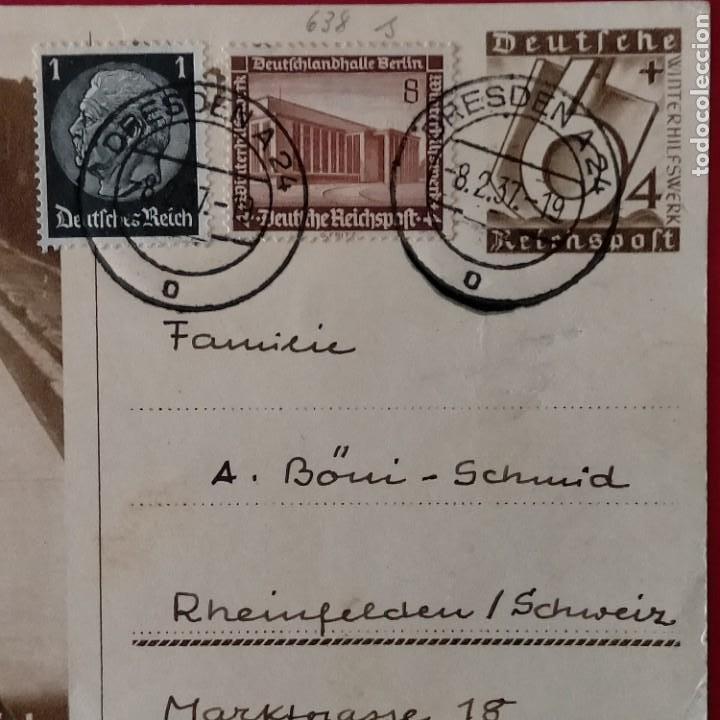 Postales: POSTALES NAZIS SEGUNDA GUERRA MUNDIAL ERFTER SPATENFTICH FEFTPOFTKARTE ZUM REITCHSPARTEITAG - Foto 3 - 248820255