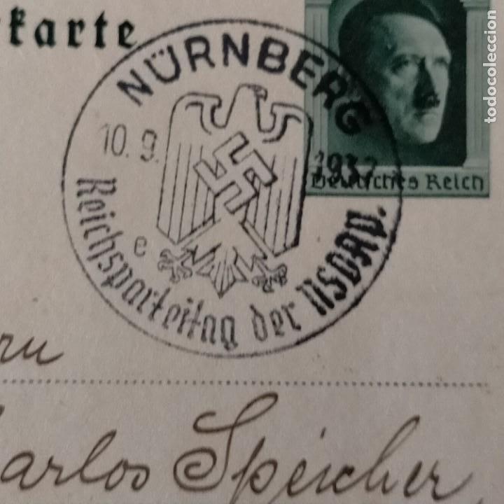 Postales: POSTALES NAZIS SEGUNDA GUERRA MUNDIAL ERFTER SPATENFTICH FEFTPOFTKARTE ZUM REITCHSPARTEITAG - Foto 4 - 248820255