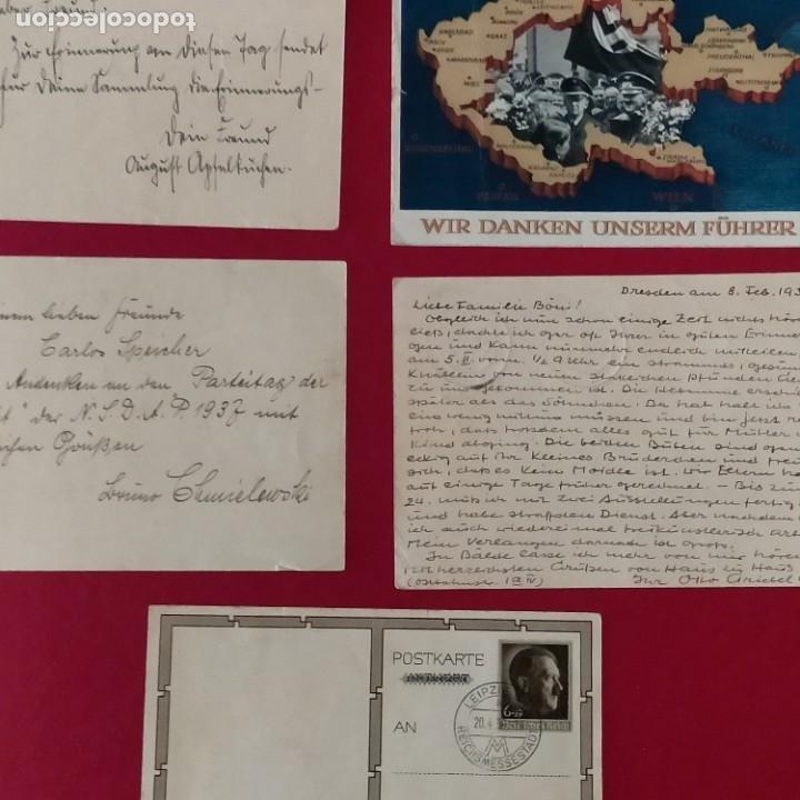 Postales: POSTALES NAZIS SEGUNDA GUERRA MUNDIAL ERFTER SPATENFTICH FEFTPOFTKARTE ZUM REITCHSPARTEITAG - Foto 5 - 248820255