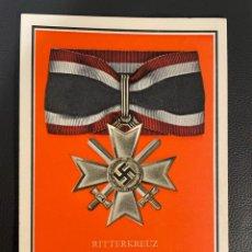 Postales: POSTAL RITTERKREUZ DES KRIEGSVERDIENSTKREUZES MIT SCHWERTEN, NAZI HITLER REICH. Lote 252945655