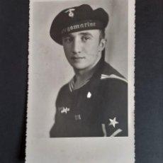 Postales: FOTO POSTAL SOLDADO ALEMAN III REICH - KRIEGSMARINE. Lote 262639240