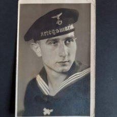 Postales: FOTO POSTAL SOLDADO ALEMAN III REICH - KRIEGSMARINE. Lote 262639640